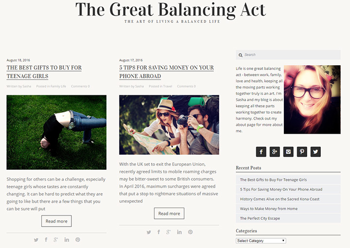 great balancing act blog