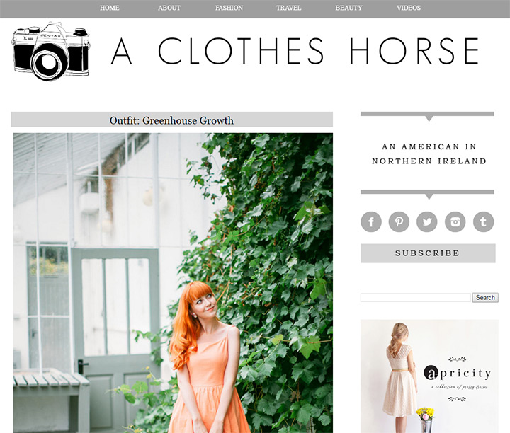 clothes horse blog