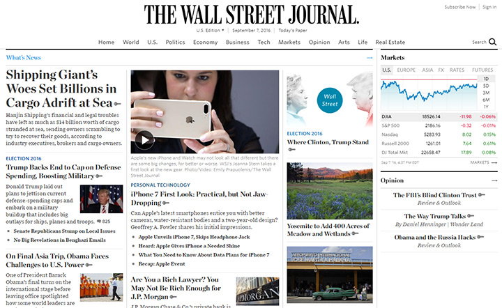 wall street journal blog