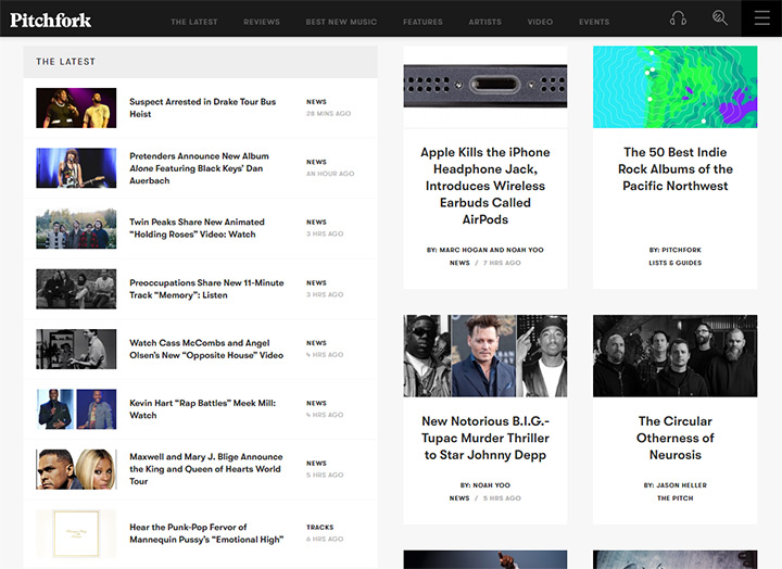 pitchfork blog