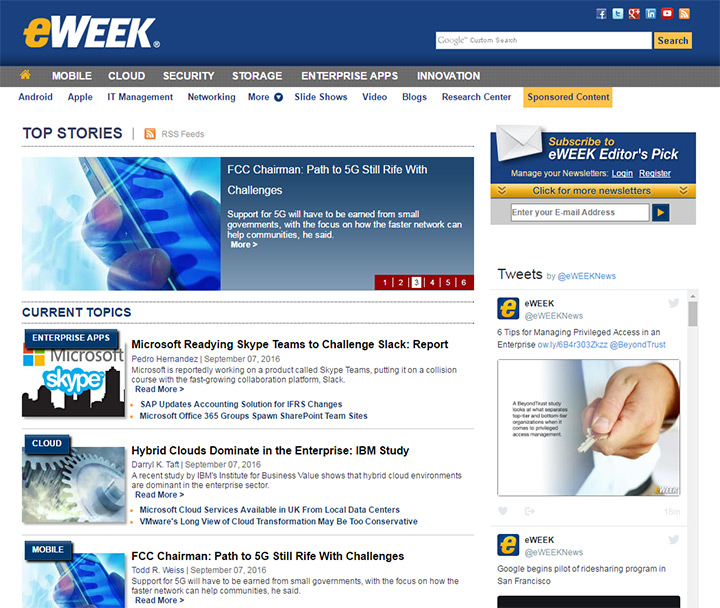 eweek blog