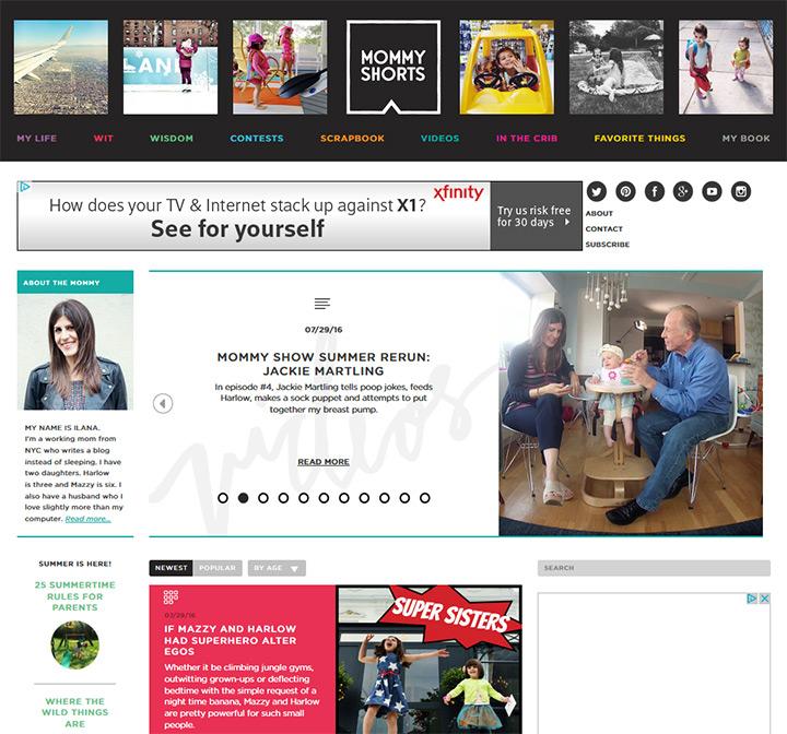 mommy shorts website