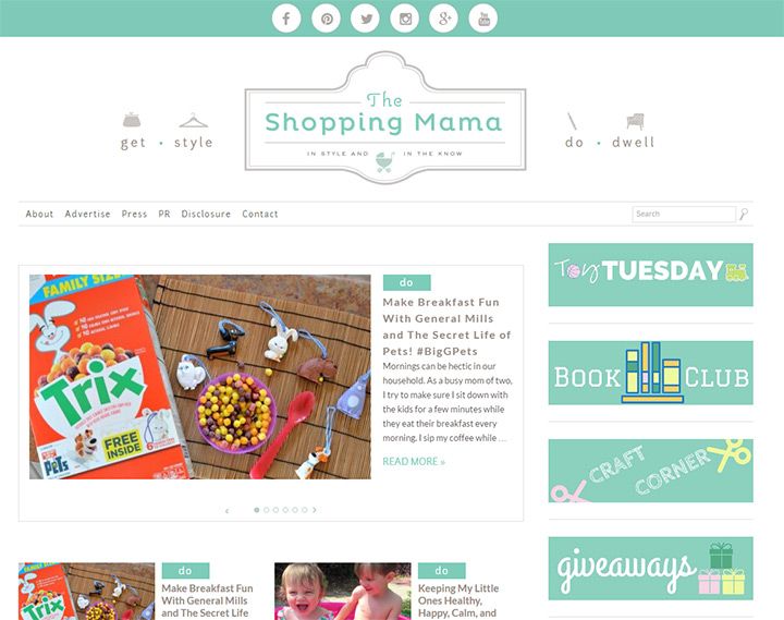 the shopping mama website
