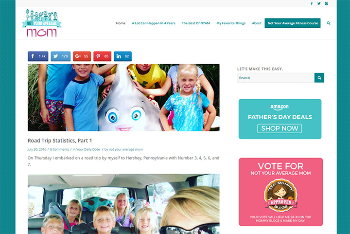 not your average mom blog