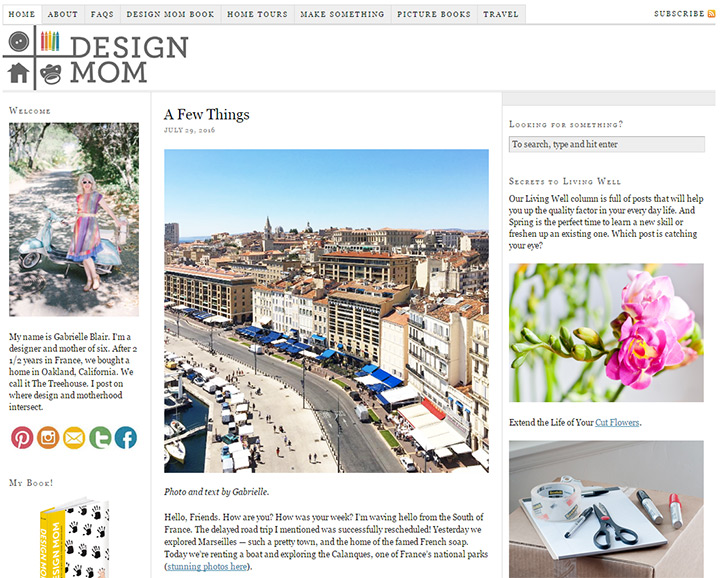 design mom blog