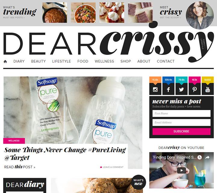 dear crissy blog