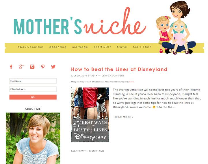 mothers niche blog