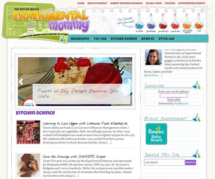 experimental mommy blog
