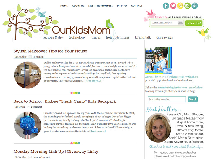 our kids mom blog