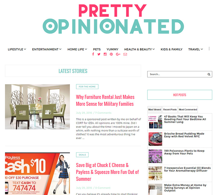 pretty opinionated blog