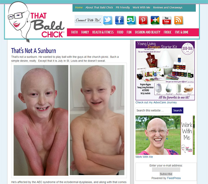 that bald chick blog