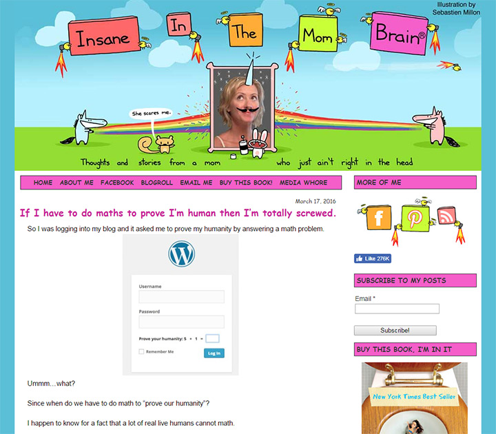 mombrain insane blog layout