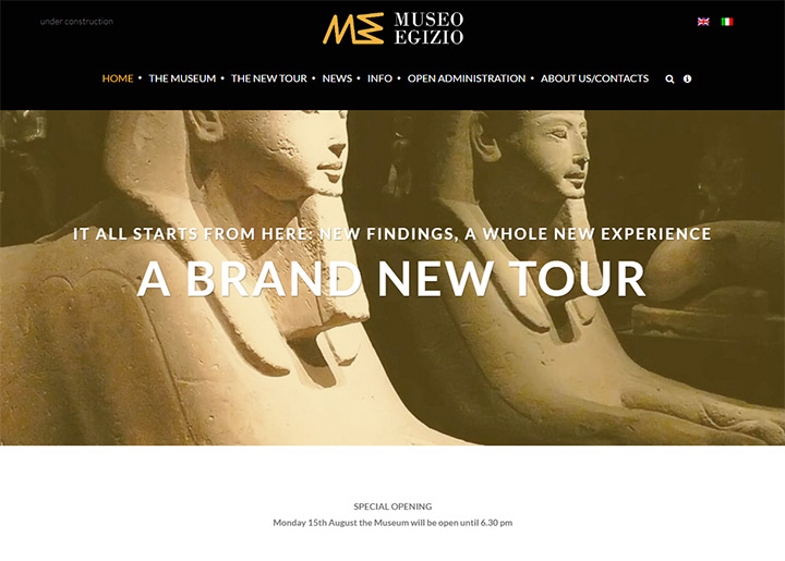 museo egizio homepage