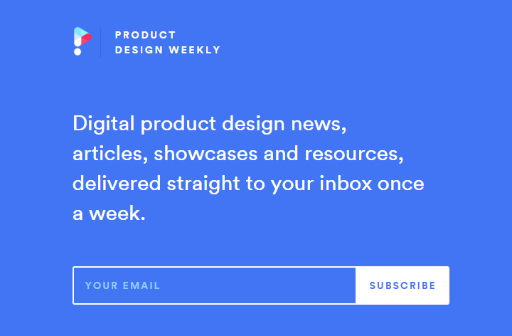 design weekly newsletter form signup
