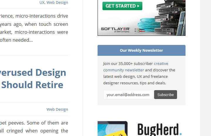 speckyboy blog newsletter signup