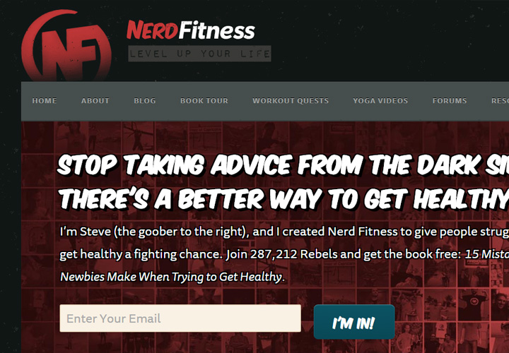nerd fitness blog newsletter