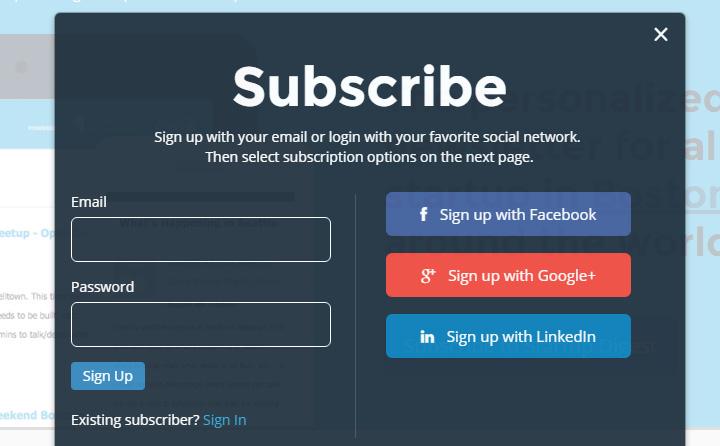 startup digest newsletter form
