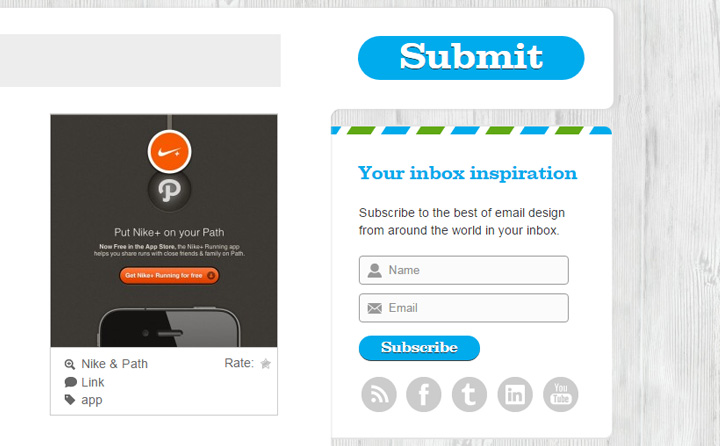 beautiful email newsletters signup