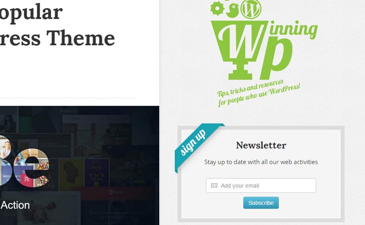 winningwp wordpress signup