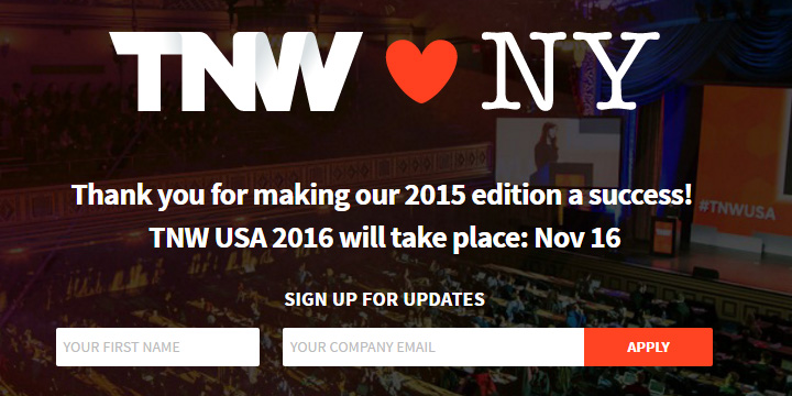 the news web conf signup