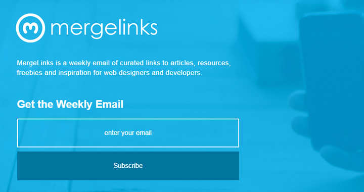 merge links signup newsletter