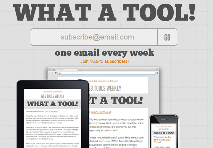 web tools weekly signup