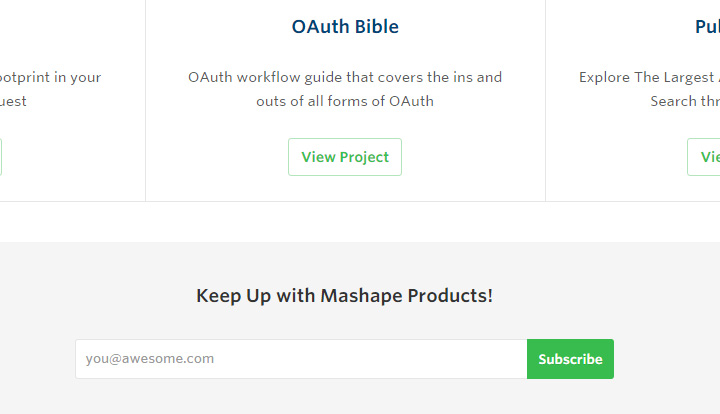 mashape design signup form