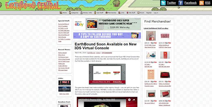 earthbound central website