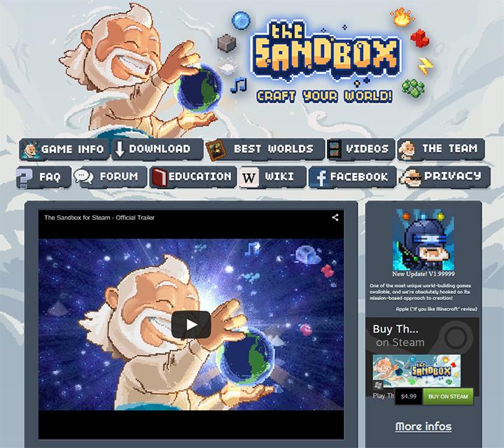 the sandbox website game