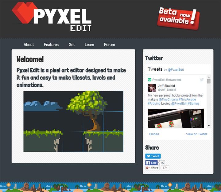 pyxel edit homepage software