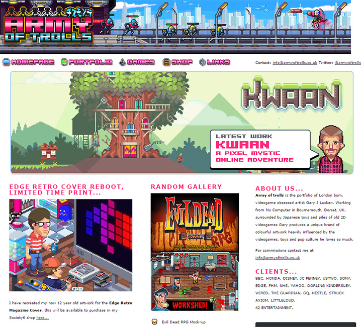 Pixel Art Styled Websites For Retro Layout Inspiration