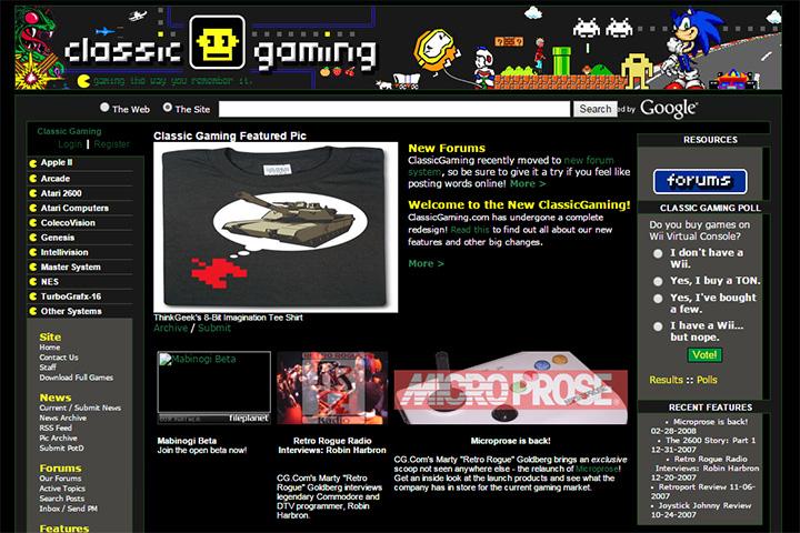 gamespy classic gaming pixel website