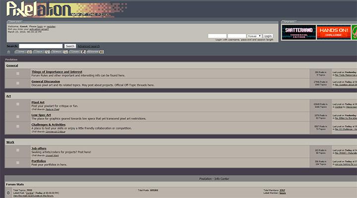 pixelation forums design