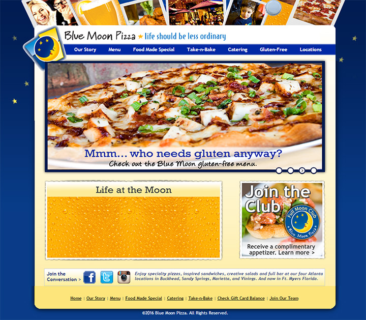 blue moon pizza