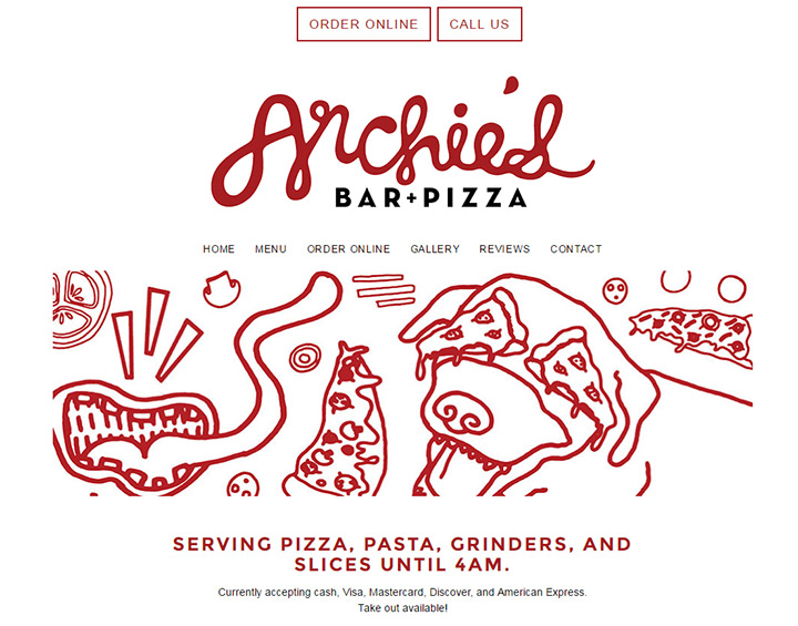archies bar pizza