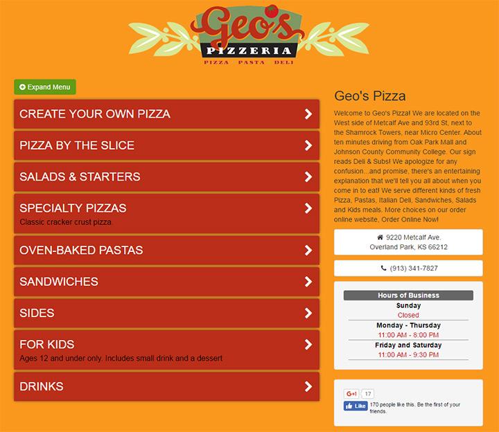 geos pizza