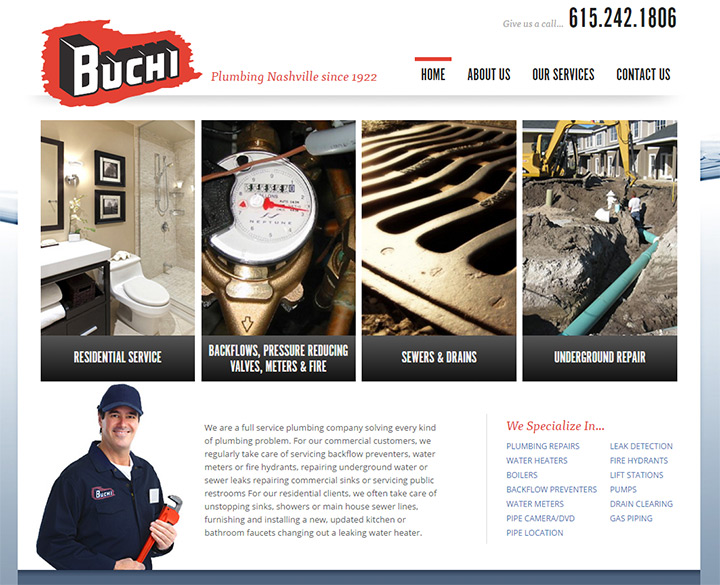 buchi plumbing website