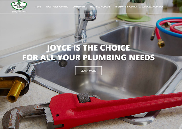 joyce plumbing website