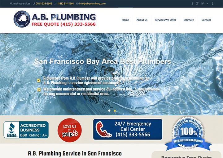 ab plumbing website