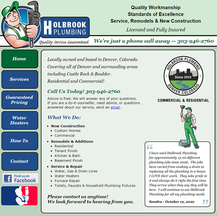 holbrook plumbing website