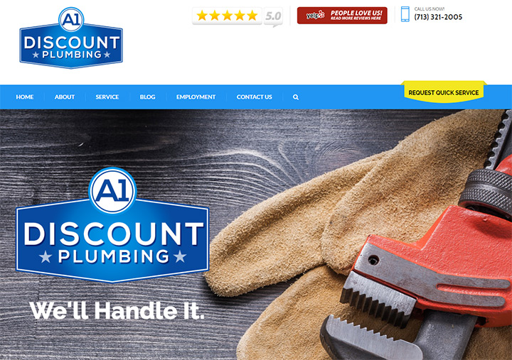 a1 discount plumbing website