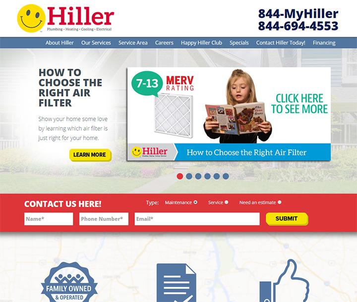 hiller plumbing website