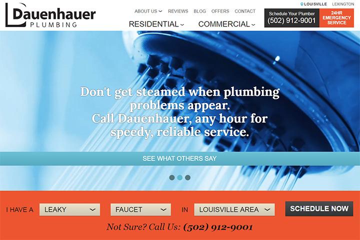 dauenhauer plumbing website