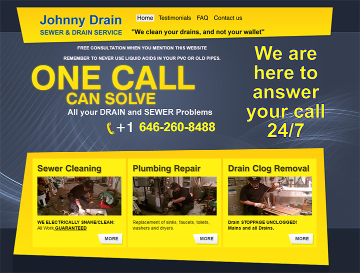 johnny drain sewer