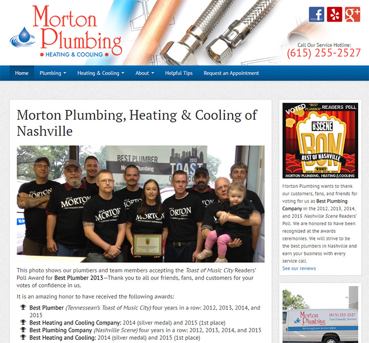 morton plumbing website