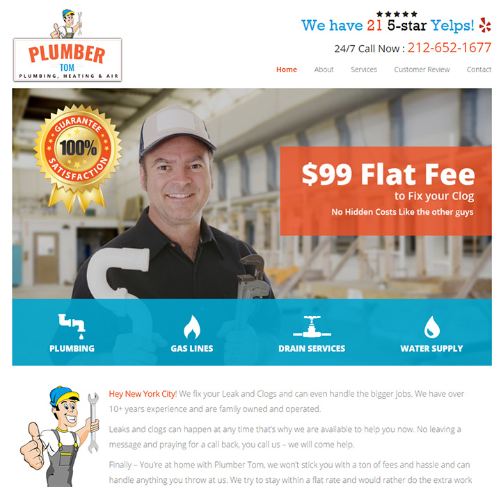 plumber tom website