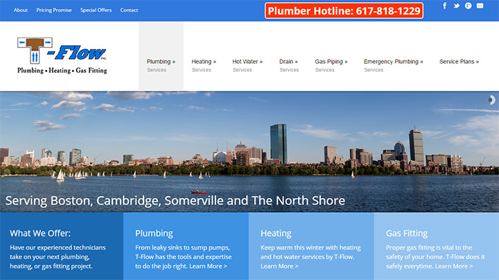 tflow plumbing website