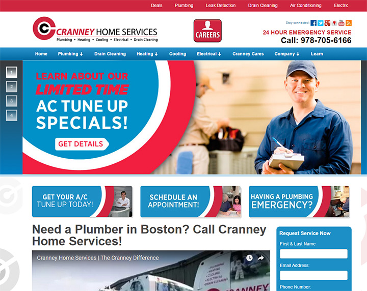 cranney home services website