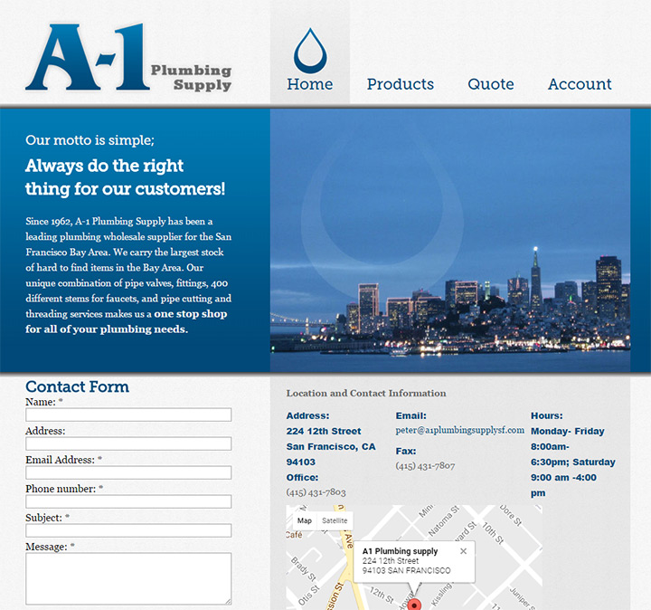 a1 plumbing supply website