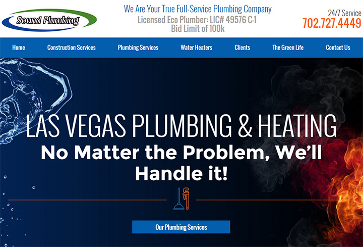 sound plumbing website